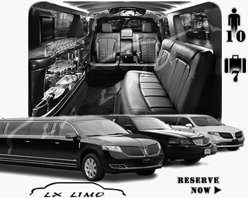 Stretch Limo airport shuttle in Orlando