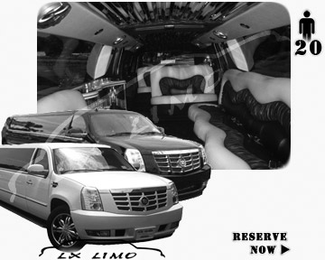 Cadillac Escalade 20 passenger SUV Limousine for rental in Orlando, FL